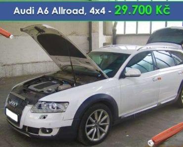 18.9.2019 Dražba automobilu Audi A6 Allroad 4x4, automat. Vyvolávací cena 29.700 Kč, ➡️ ID620866