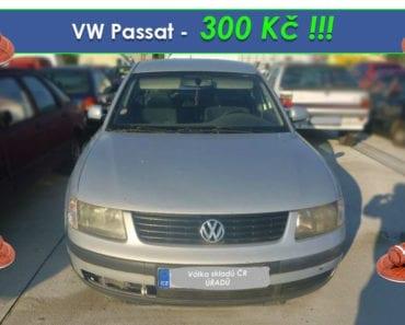 29.8.2019 Dražba automobilu VW Passat. Vyvolávací cena 300 Kč, ➡️ ID614571
