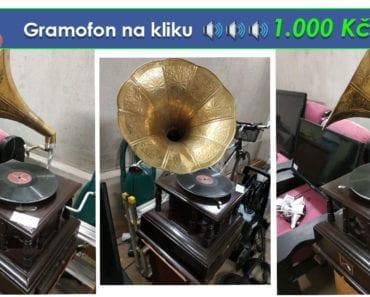 22.8.2019 Dražba gramofonu na kliku a gramofonové desky. Vyvolávací cena 1.000 Kč.