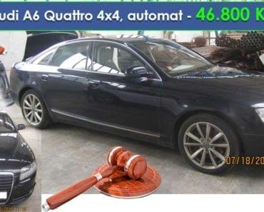 18.9.2019 Dražba automobilu Audi A6 Quattro 4x4, automat. Vyvolávací cena 46.800 Kč, ➡️ ID620859
