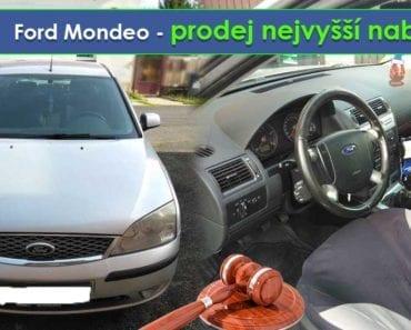 Do 16.9.2019 Výběrové řízení na prodej automobilu Ford Mondeo - prodej nejvyšší nabídce, ➡️ ID620900
