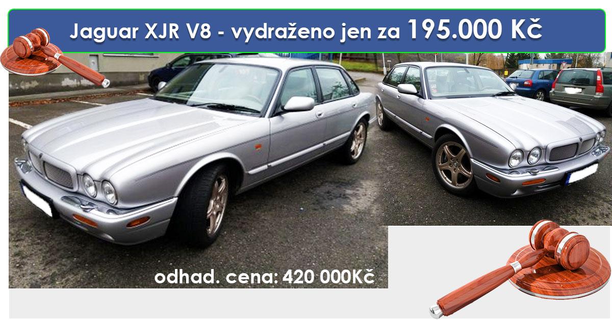 Zisková Dražba Jaguar XJR V8 – vydraženo jen za 195.000 Kč