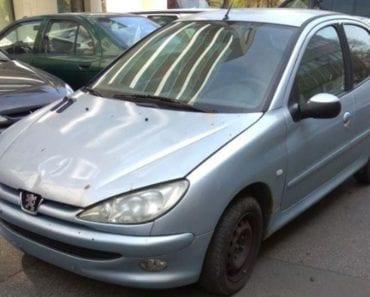 9.10.2019 Dražba automobilu Peugeot 206. Vyvolávací cena 1.000 Kč, ➡️ ID640337