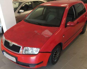 17.10.2019 Dražba automobilu Škoda Fabia 1.4i. Vyvolávací cena 9.000 Kč, ➡️ ID643962