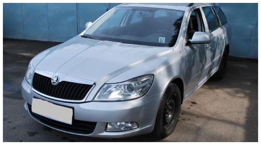 7.9.2019 Dražba automobilu Škoda Octavia combi. Vyvolávací cena95.000 Kč.