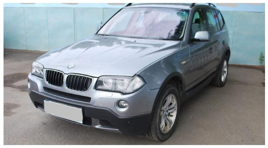 7.9.2019 Dražba automobilu BMW X3, 4x4. Vyvolávací cena95.000 Kč.