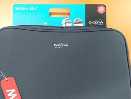 3.10.2019 Dražba tašek na notebook Dicota SoftSkin - 103 kusů. Vyvolávací cena 8.800 Kč.