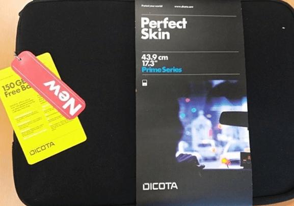 3.10.2019 Dražba tašek na notebook Dicota PerfektSkin - 380 kusů.