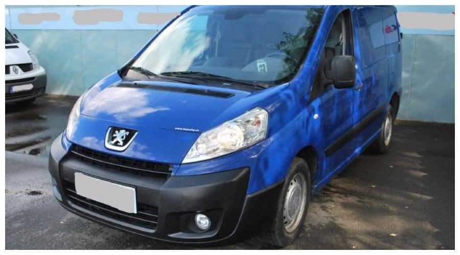 7.9.2019 Dražba automobilu Peugeot Expert. Vyvolávací cena45.000 Kč.