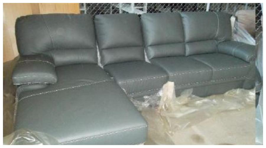 7.10.2019 Dražba nábytku (Sedačka šedá antracit, kůže, koženka). Vyvolávací cena 6.500 Kč, ➡️ ID645296