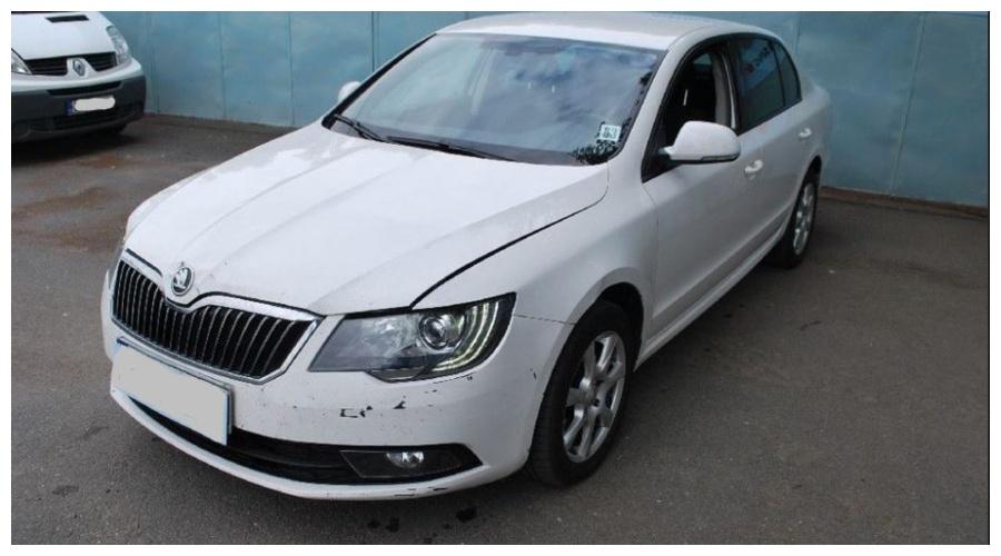 7.9.2019 Dražba automobilu Škoda Superb. Vyvolávací cena160.000 Kč.