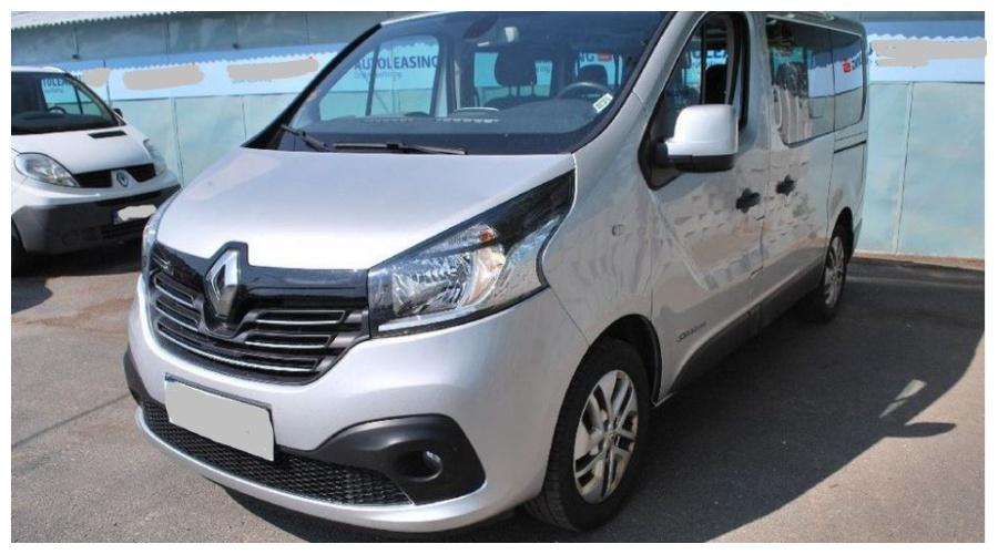 7.9.2019 Dražba automobilu Renault Trafic. Vyvolávací cena250.000 Kč.