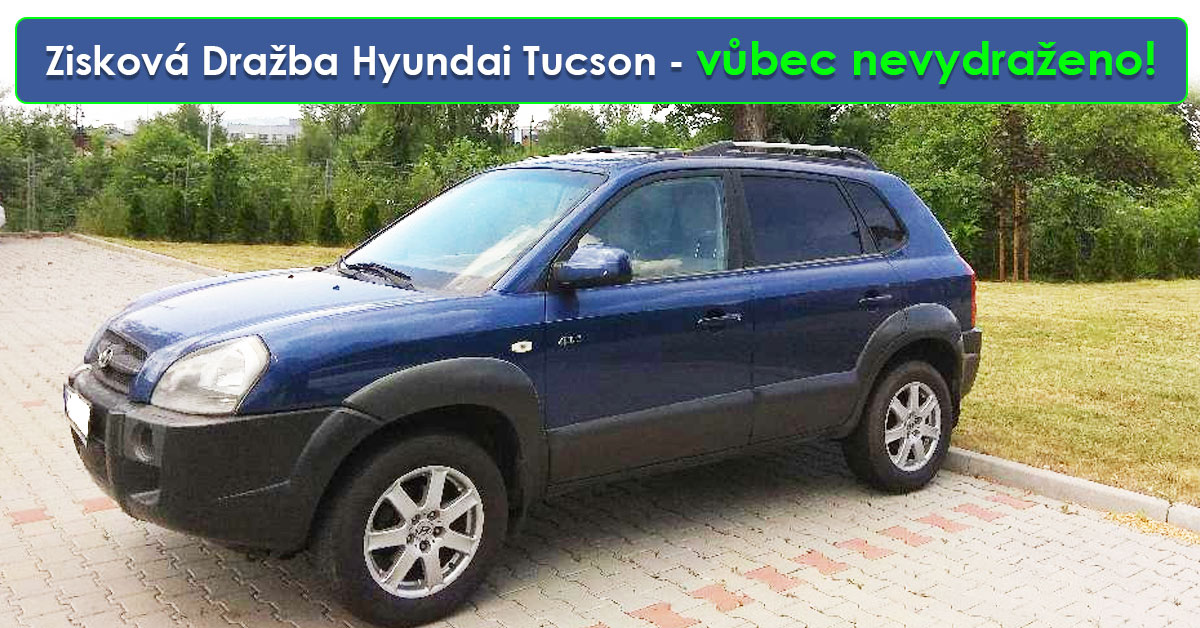 Zisková Dražba Hyundai Tucson – vůbec nevydraženo! Cena, za kterou bylo možno koupit vozidlo byla cca 36.000 Kč.
