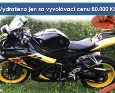 Zisková dražba motocyklu Suzuki GSX 600R - Vydraženo jen za vyvolávací cenu 80.000 Kč