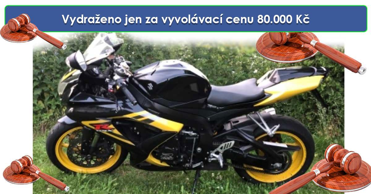 Zisková dražba motocyklu Suzuki GSX 600R – Vydraženo jen za vyvolávací cenu 80.000 Kč