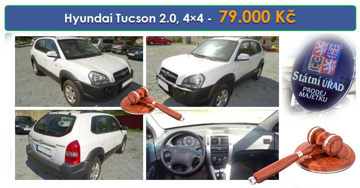 Do 4.10.2019 Výběrové řízení na prodej automobilu Hyundai Tucson 2.0, 4x4. Min. kupní cena 79.000 Kč, ➡️ ID640741