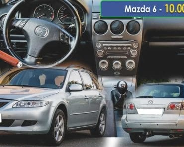 20.9.2019 Dražba automobilu Mazda 6. Vyvolávací cena 10.000 Kč, ➡️ ID641004
