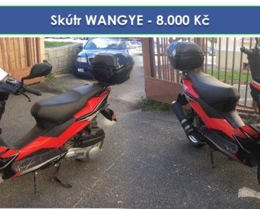 10.10.2019 Dražba motocyklu Skútr WANGYE. Vyvolávací cena 8.000 Kč, ➡️ ID641436