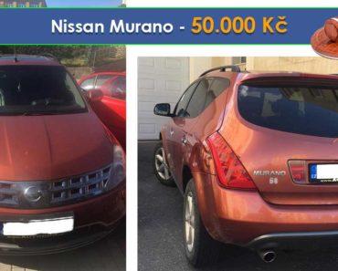 10.10.2019 Dražba automobilu Nissan Murano. Vyvolávací cena 50.000 Kč, ➡️ ID641412