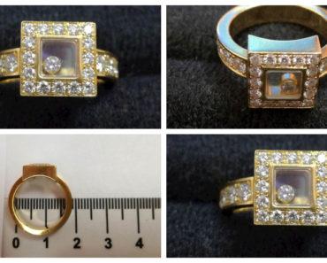 Do 9.12.2019 Aukce ostatních movitých věcí (Zlatý prsten s brilianty zn. Chopard). Vyvolávací cena 49.500 Kč, ➡️ ID654208