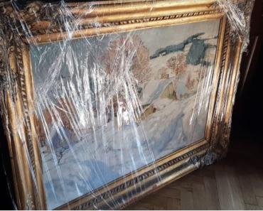 14.11.2019 Dražba obrazu Zimní krajina. Vyvolávací cena 146.666 Kč.