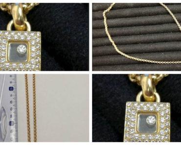 Do 9.12.2019 Aukce ostatních movitých věcí (Zlatý řetízek s přívěskem s brilianty zn. Chopard). Vyvolávací cena 75.600 Kč, ➡️ ID654268