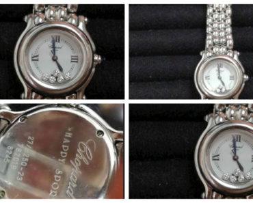 Do 9.12.2019 Aukce ostatních movitých věcí (Dámské hodinky se safíry a diamanty zn. Chopard). Vyvolávací cena 45.000 Kč, ➡️ ID654278