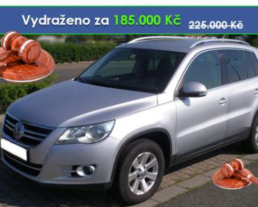 Zisková Dražba Volkswagen Tiguan - vydraženo jen za 185.000 Kč