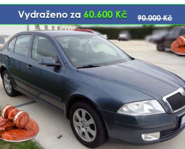 Zisková Dražba Škoda Octavia - vydraženo jen za 60.600 Kč