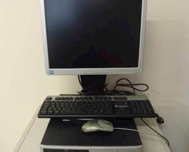 """Do 4.12.2019 Aukce počítače (PC HP dc 5100 SFF+LCD monitor HP 17""""). Vyvolávací cena 400 Kč, ➡️ ID661396"""