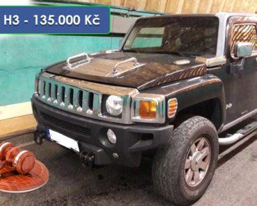 2.12.2019 Dražba automobilu Nákladní automobil Hummer H3. Vyvolávací cena 135.000 Kč, ➡️ ID658742