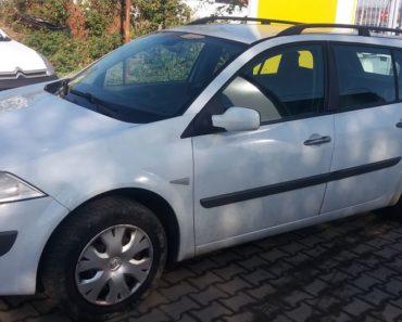 15.1.2020 Dražba automobilu Renault Megane kombi. Vyvolávací cena 15.000 Kč, ➡️ ID665622