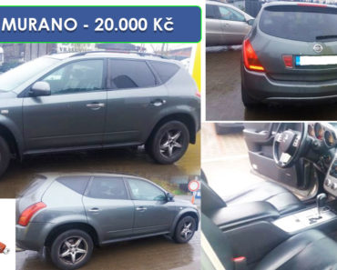 17.12.2019 Dražba automobilu NISSAN MURANO 3.5. Vyvolávací cena 20.000 Kč, ➡️ ID662637