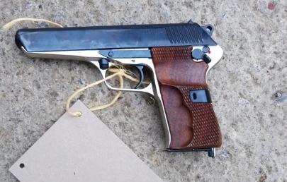 16.12.2019 Dražba pistole samonabíjecí - model 52. Vyvolávací cena 1.500 Kč.