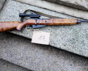 16.12.2019 Dražba opakovací pušky model 54. Vyvolávací cena 7.500 Kč.