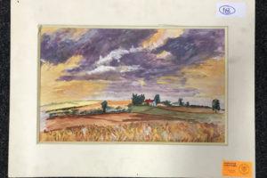 """29.1.2020 Dražba umění (Obraz """"Červený dům"""" 35x50 cm). Vyvolávací cena 200 Kč, ➡️ ID667786"""