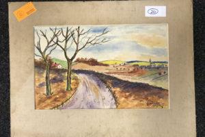 """29.1.2020 Dražba umění (Obraz """"Silnice"""" 28x45 cm). Vyvolávací cena 200 Kč, ➡️ ID667792"""