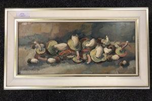 """29.1.2020 Dražba umění (Obraz """"Zátiší s houbami"""" 28x60 cm). Vyvolávací cena 2.000 Kč, ➡️ ID667794"""