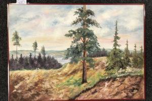 """29.1.2020 Dražba umění (Obraz """"Borovice"""" 50x70 cm). Vyvolávací cena 1.500 Kč, ➡️ ID667810"""