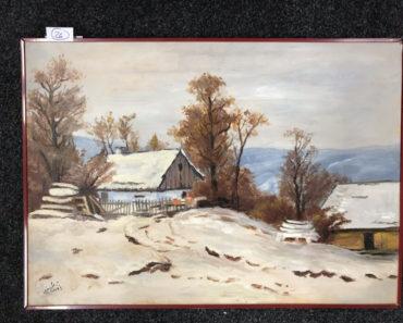 """29.1.2020 Dražba umění (Obraz """"Horská samota"""" 50x70 cm). Vyvolávací cena 1.000 Kč, ➡️ ID667814"""