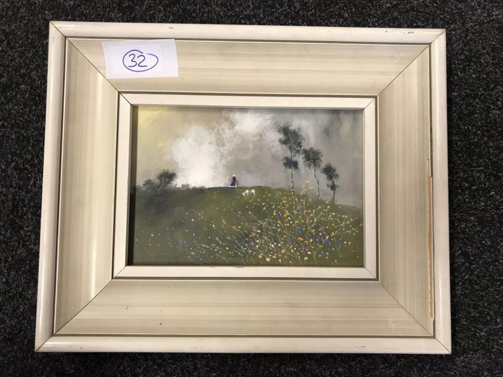 """29.1.2020 Dražba umění (Obraz """"Ztracená příroda"""" 17x24 cm). Vyvolávací cena 1.500 Kč, ➡️ ID667839"""