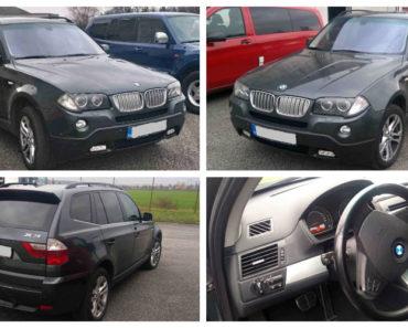 Do 15.1.2020 Dražba automobilu BMW X3 3.0. Vyvolávací cena 99.000 Kč, ➡️ ID669318