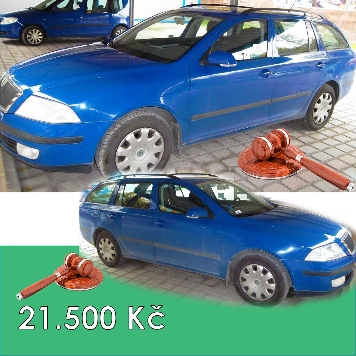 Zisková Dražba Škoda OCTAVIA - vydraženo jen za 21.500 Kč
