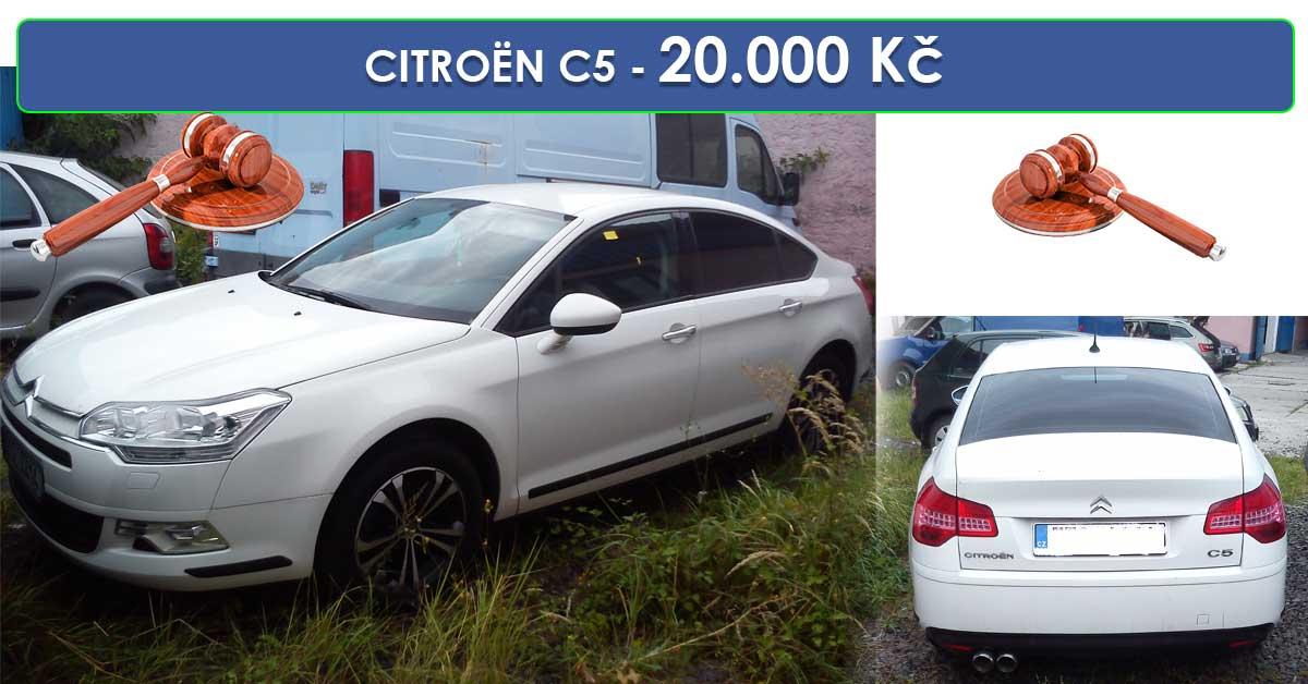 Zisková Dražba CITROËN C5 1.6 HDI 16V R - vydraženo jen za 47.000 Kč
