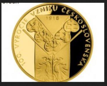 17.12.2019 Dražba sady dvou zlatých medailí - Vznik ČSR. Vyvolávací cena 10.000 Kč, ➡️ ID 668639