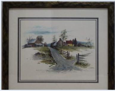 Do 25.1.2020 Aukce umění (Venkovská chalupa - reprodukce). Vyvolávací cena 60 Kč, ➡️ ID678661