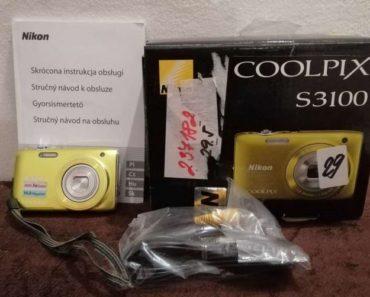Do 10.2.2020 Výběrové řízení na prodej elektroniky (Fotoaparát NIKON COOLPIX S3100). Min. kupní cena 456 Kč, ➡️ ID675181
