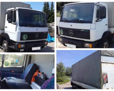 19.2.2020 Dražba nákladního automobilu Mercedes-Benz 814. Vyvolávací cena 60.000 Kč, ➡️ ID681744