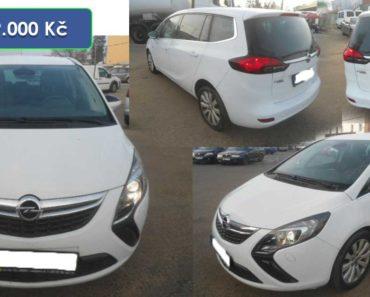 Do 29.1.2020 Aukce automobilu Opel Zafira Tourer 1.6 CDTi Cosmo. Vyvolávací cena 79.000 Kč, ➡️ ID681290