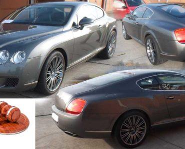 20.2.2020 Dražba automobilu Bentley Continental GT Speed. Vyvolávací cena 800.000 Kč, ➡️ ID678861